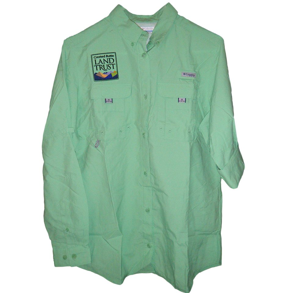 Women 39 s columbia fishing shirt crested butte land trust Columbia womens fishing shirt
