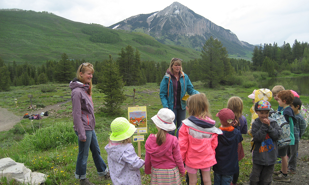 StoryWalk® connects kids to nature
